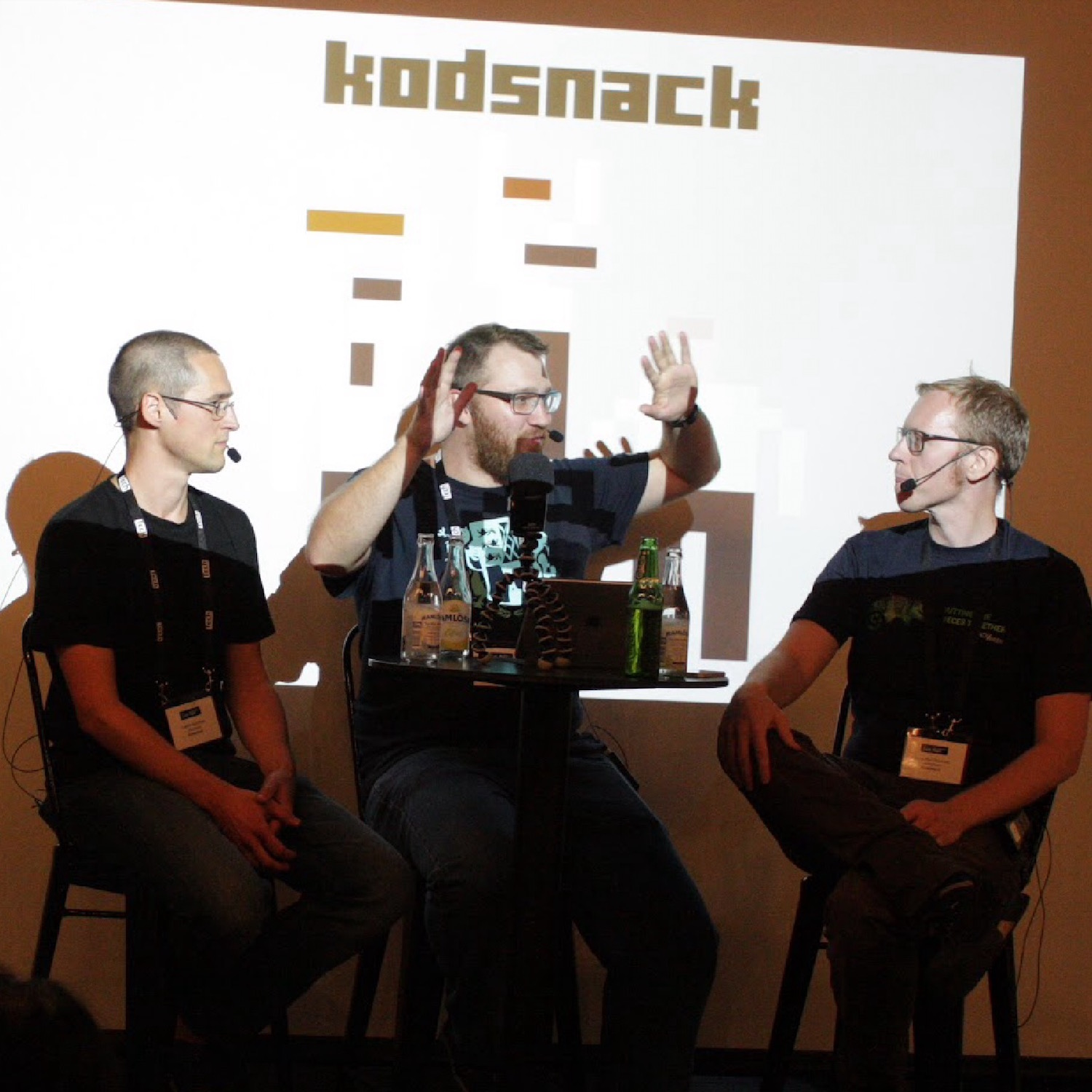 Kodsnack on stage