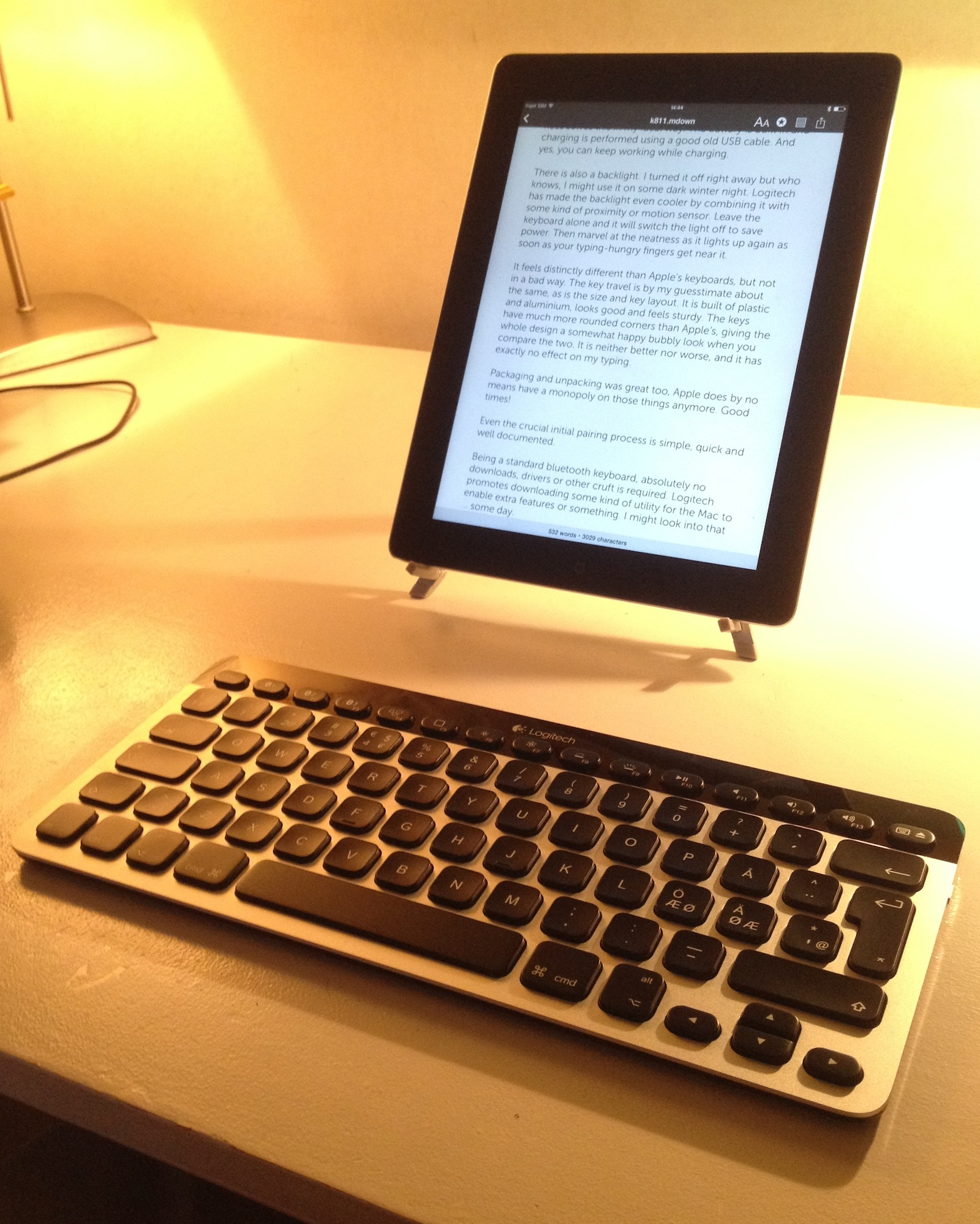 iPad with Logitech K811 keyboard