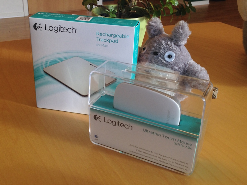 Logitech T631 and T651 in packaging, Totoro for reference.